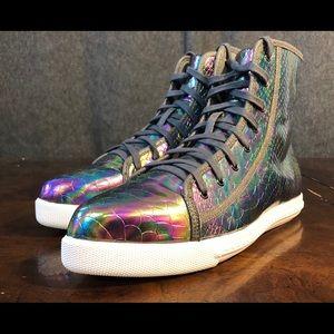 I HEART Minx Grey Iridescent Sneakers Size 9